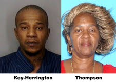 Deborah Thompson And Kelvin Key-Herrington Wanted And On The Run