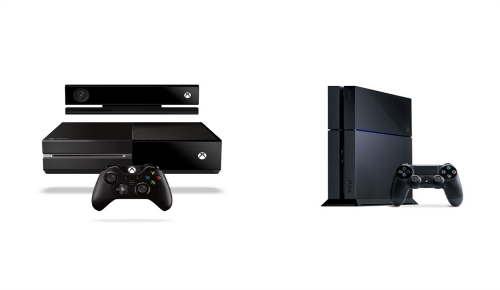 In The Left Corner Xbox One In The Right Corner PlayStation 4