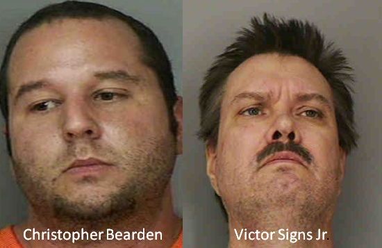 Victor Signs & Christopher Bearden Arrested In Polk County