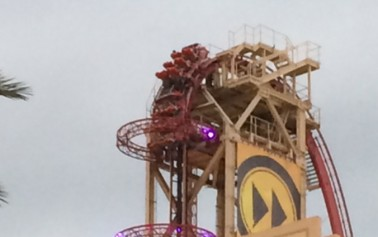 Universal's Rip Ride Rockit Roller Coaster Stuck