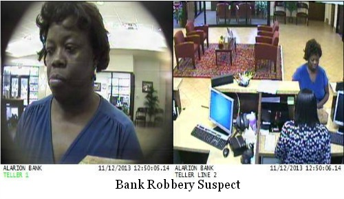 Alarion Bank Robbery Suspect Renita Rayner On The Run