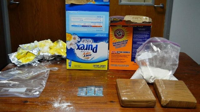 Traffic stop yields arrest for laundry detergent box contents