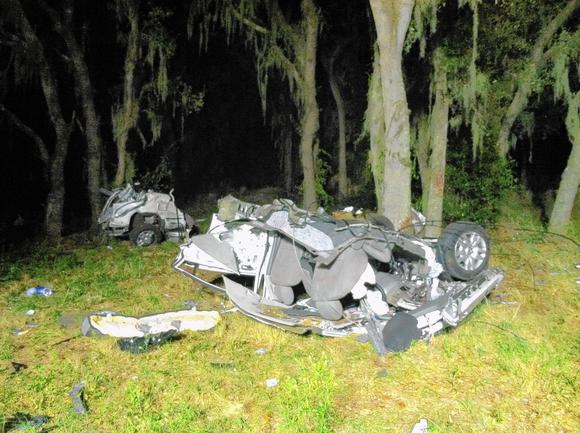 Extreme speed was factor; car ripped in half