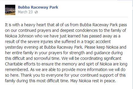 raceway statement