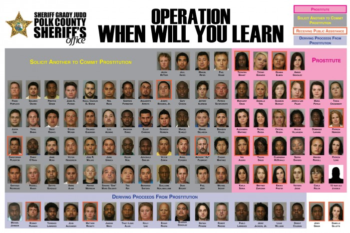 98 arrested in four day human trafficking/prostitution sting