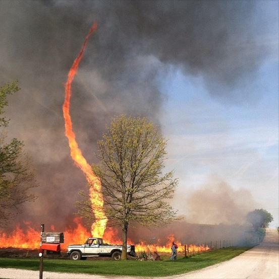 Picture captures fire-whirl