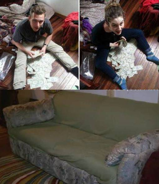 Roommates Buy Couch From Thrift Store And Find Hidden Surprise