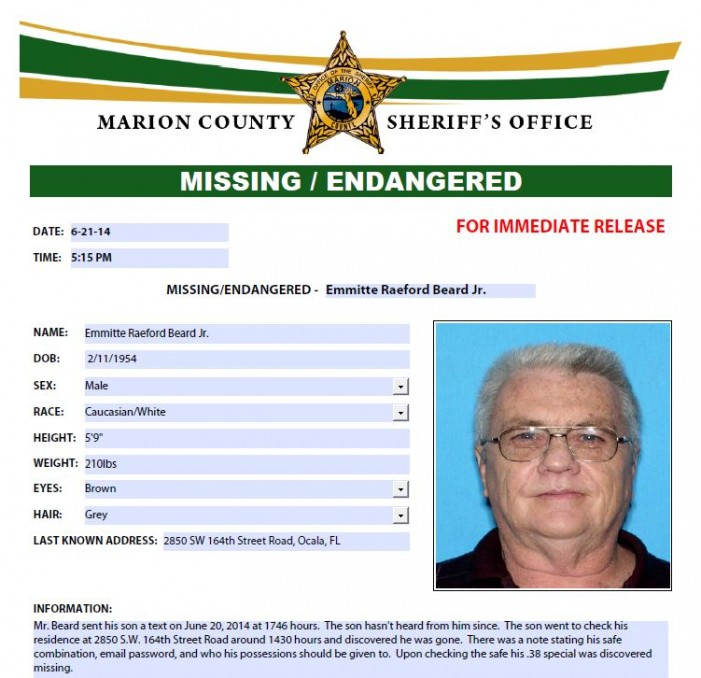Missing Ocala man found dead