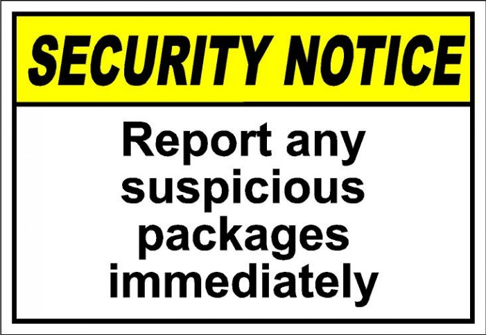 Suspicious packages / envelopes have been received