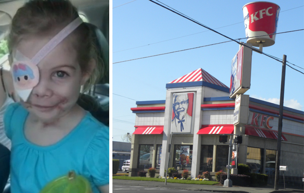 Victoria Wilcher, KFC asks girl to leave