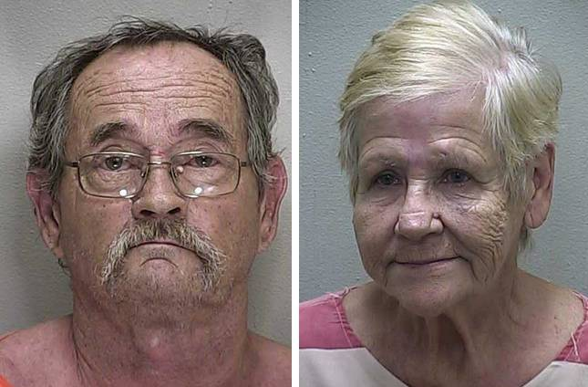 Elderly couple face felony charges