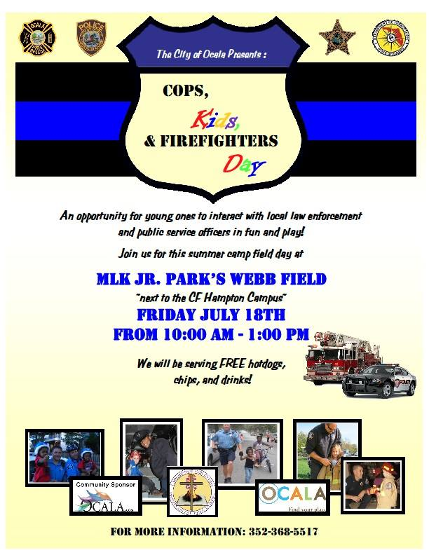 Cops, Kids and Firefighters Day