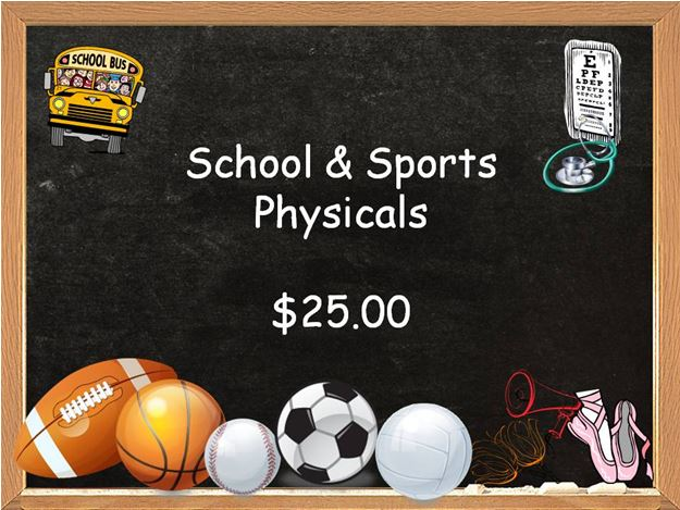 2014-2015: Back to school and sports physicals