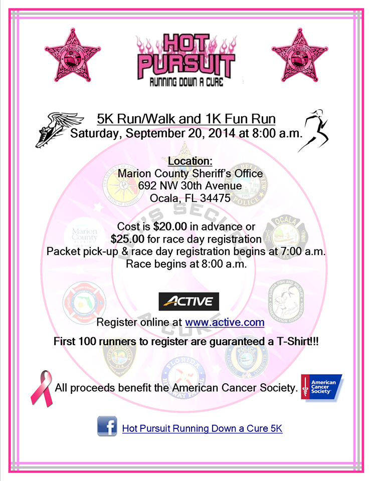 running for a cure, ocala news, marion county, cancer