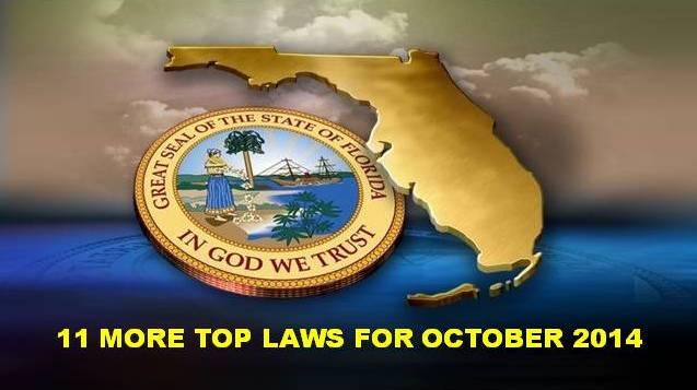 11 more top Florida laws in effect October 2014