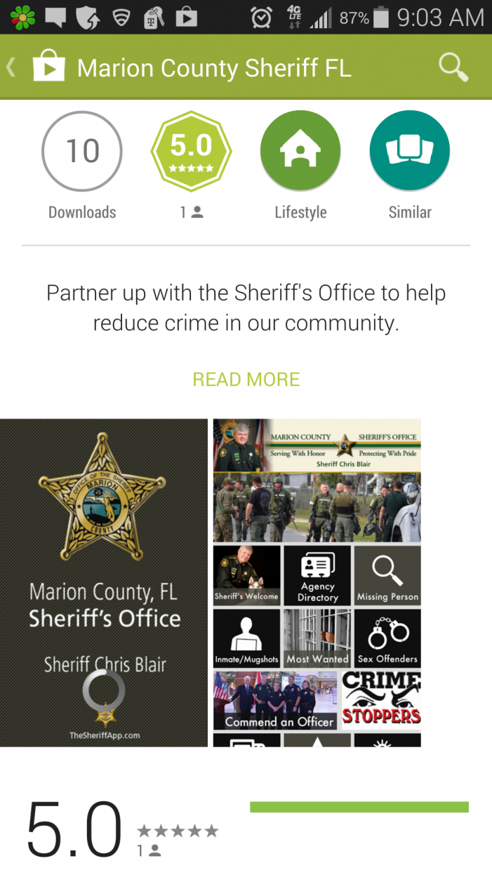 Marion County Sheriff's Office new phone app released today