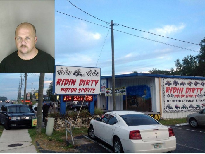 Owner of Ridin' Dirty Motor Sports arrested