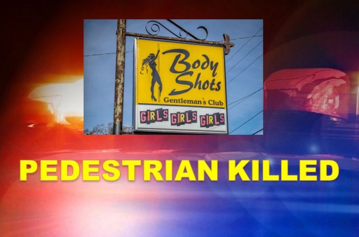 Man hit by bus in front of strip club