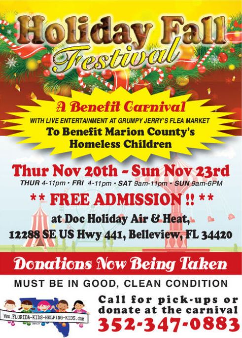 Holiday fall festival carnival in Belleview