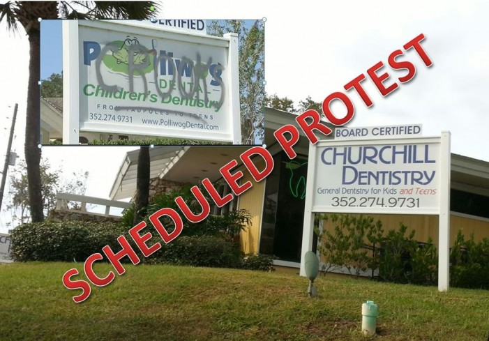 Scheduled protest against Churchill Dentistry, LLC, formerly Polliwog Dental, LLC