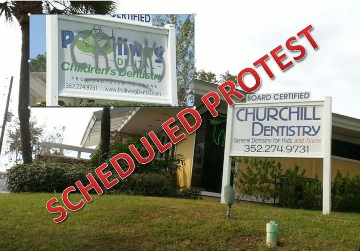 Scheduled protest against Churchill Dentistry, LLC, formerly Polliwog Dental, LLC