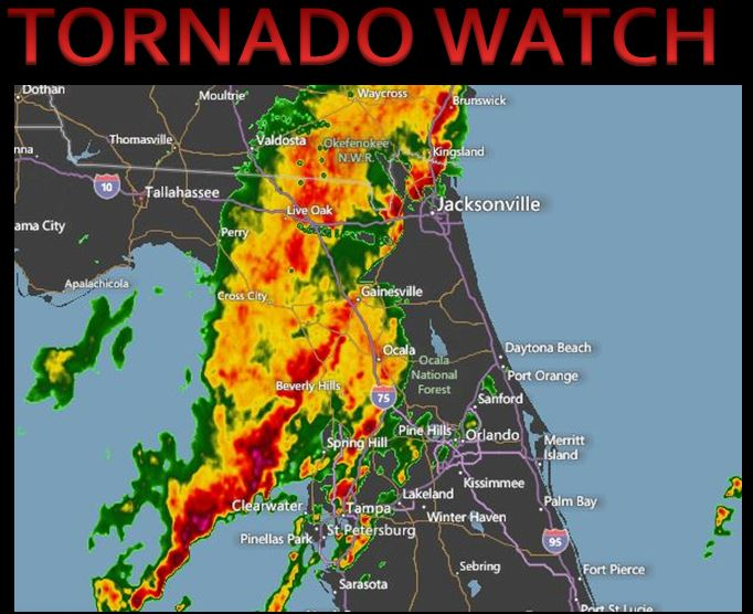 Weather Alert: Tornado watch and severe thunderstorm warning
