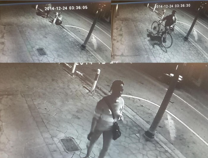 Pair wanted for defacing government property