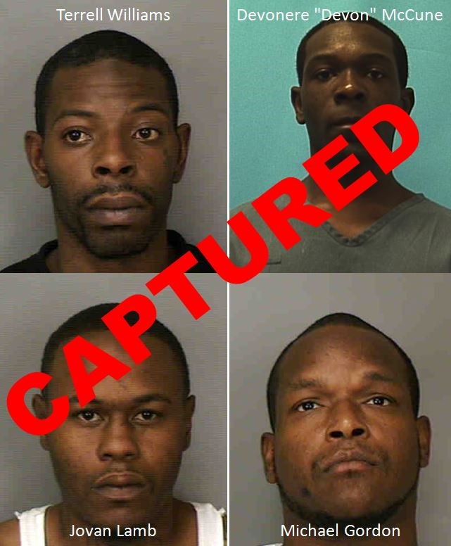 UPDATE: All four murder suspects captured