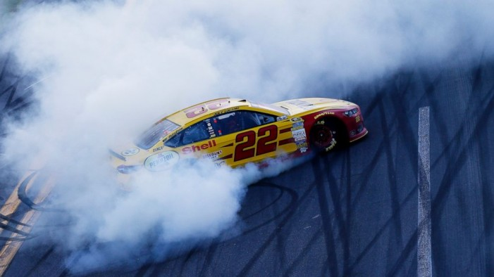 Joey Logano wins the Great American Race