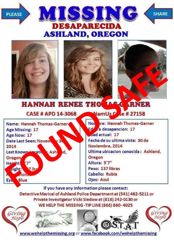 hannah thomas-garner, california, oredon, ocala news, missing,