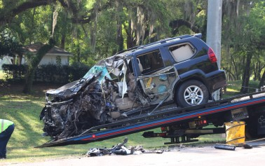 Fatal accident involving a semi and SUV on SR 200
