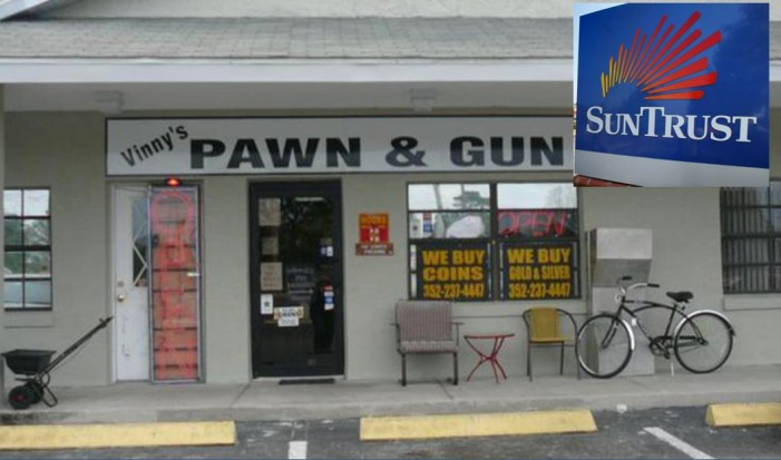Ocala pawn shop owner: SunTrust Bank closed account because we sell guns