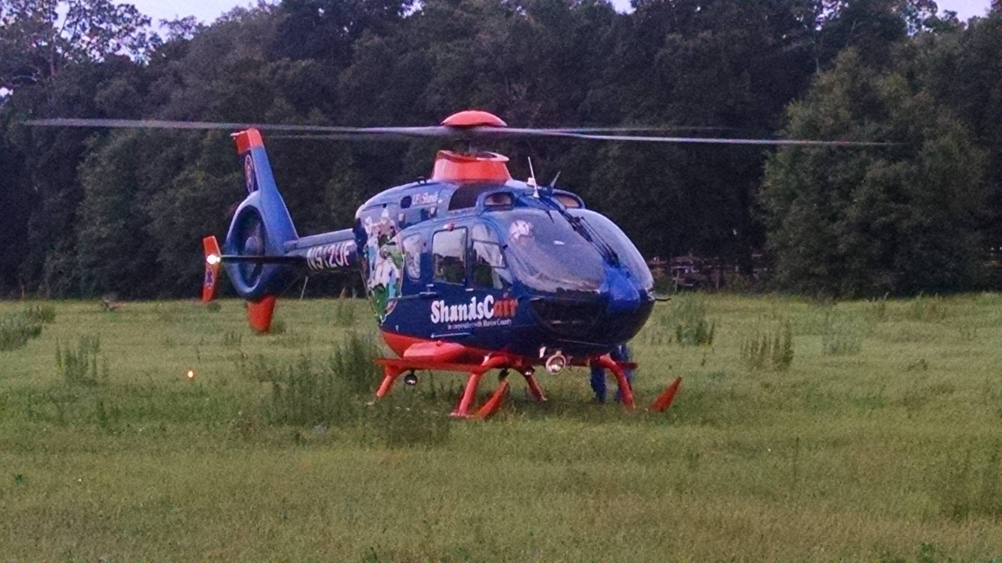ocala news, marion ocunty news, car crash, speeding, shandscair, Man airlifted after crash near Candler