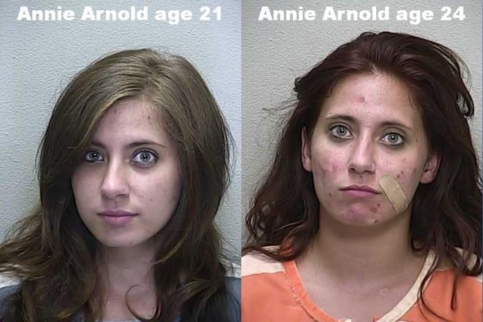K-9 sniffs out heroin syringe; woman arrested