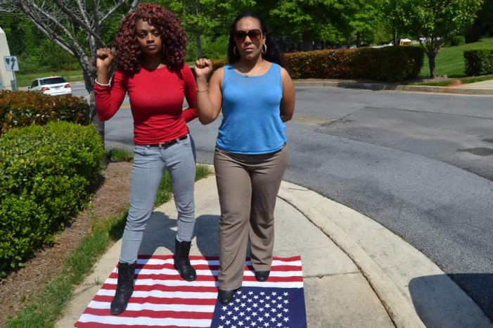 Woman fired from job and blocked from Facebook after she stomped on American Flag