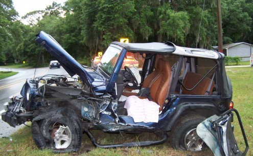 ocala news, marion county news, car accident, car crash, ocklawaha crash, jeep crash