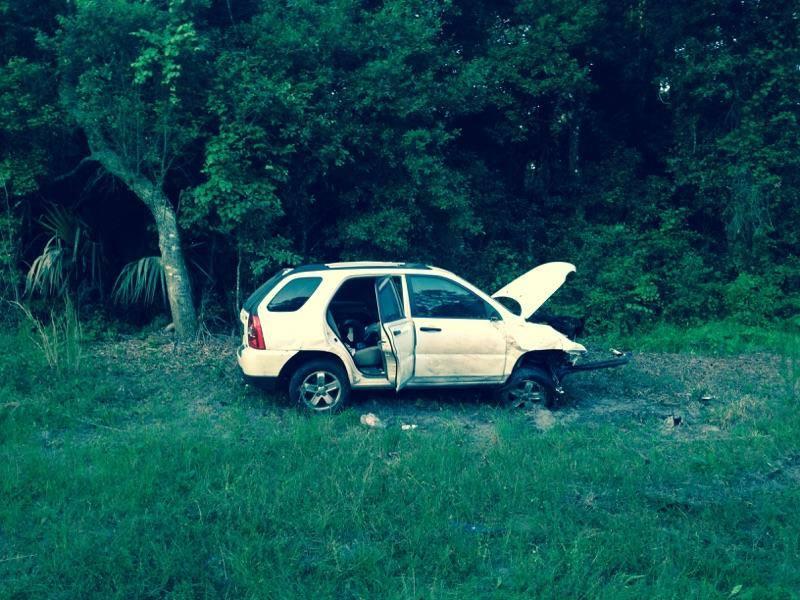 ocala news, marion county news, maricamp crash, car flipped, car crash