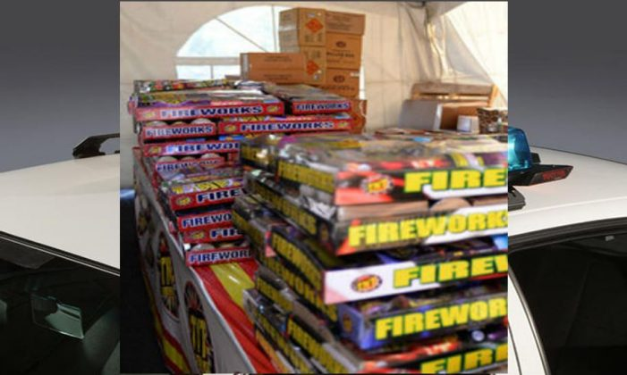 Fireworks stolen from inside tent