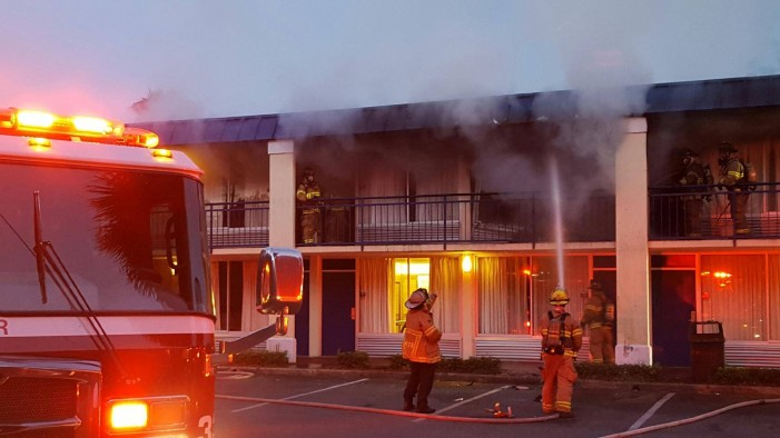 Firefighters prevent Days Inn from burning to the ground
