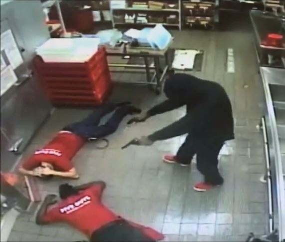 Armed robbery at Five Guys Burgers