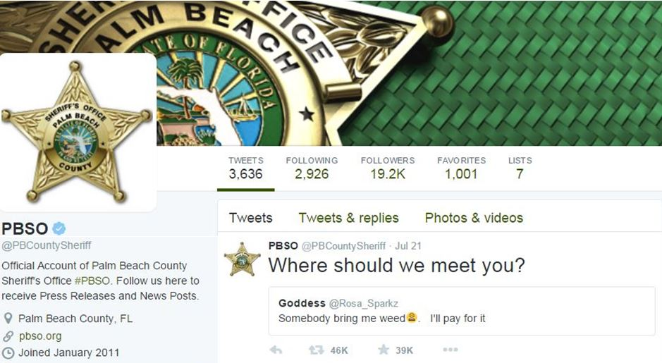 palm beach county, ocala news, marijuana, weed, girl tries to buy weed on twitter