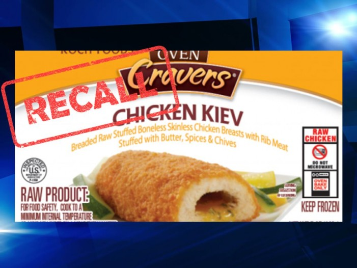 Aspen Foods recall includes 1,978,680 pounds of frozen, raw, stuffed, and breaded chicken