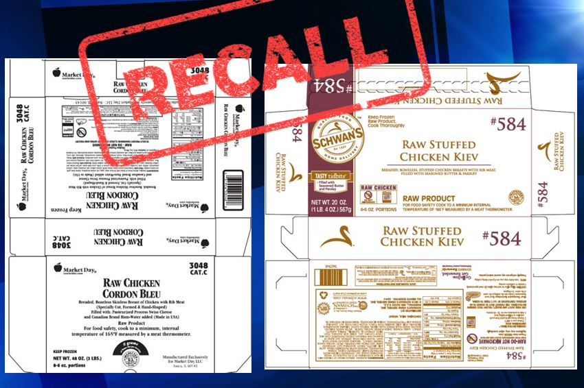 aspen food recall, chicken cordon bleu, ocala news, schwans, marion county news, health