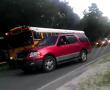 firefighter drove around stopped school bus