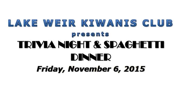 Lake Weir Kiwanis presents: Trivia Night & Spaghetti Dinner