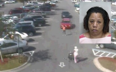 Video: Purse snatching in Walmart parking lot