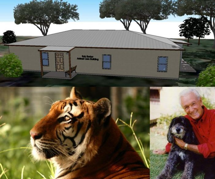 Former game show host, Bob Barker, helps local animal sanctuary