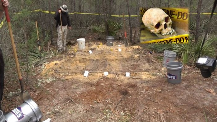 Human remains identified as a male