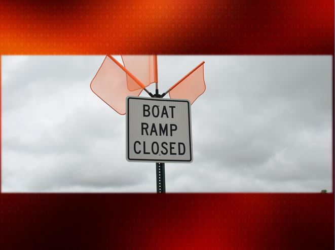 Reminder about closed boat ramps