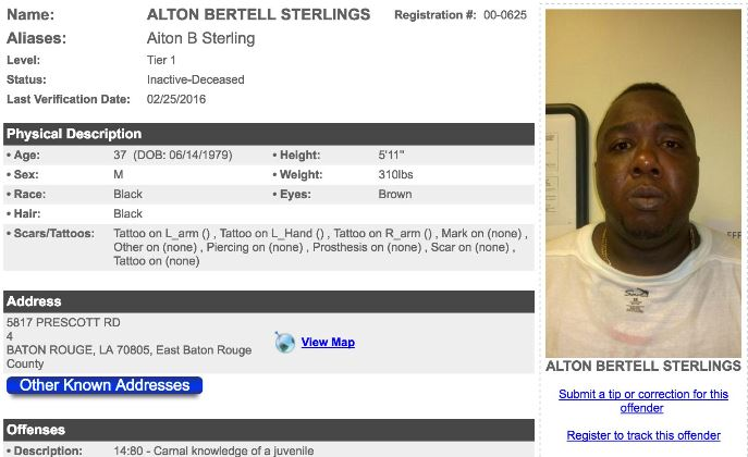 Chief says that Alton Sterlings was armed